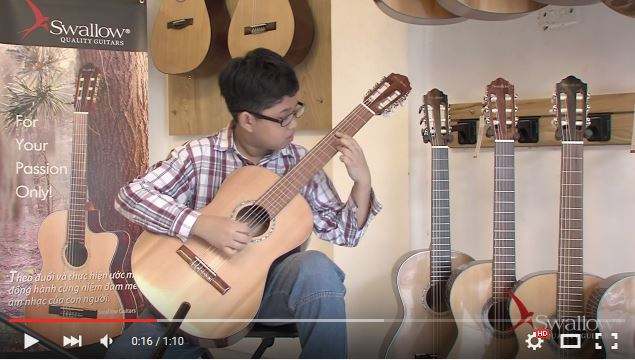 Swallow Guitars C220A demo video